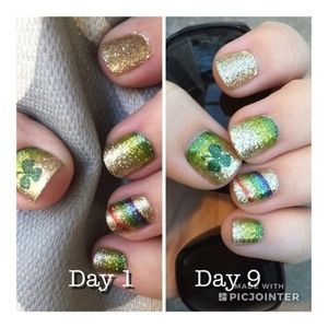 4/$48 color street nails Irish you luck rainbow
